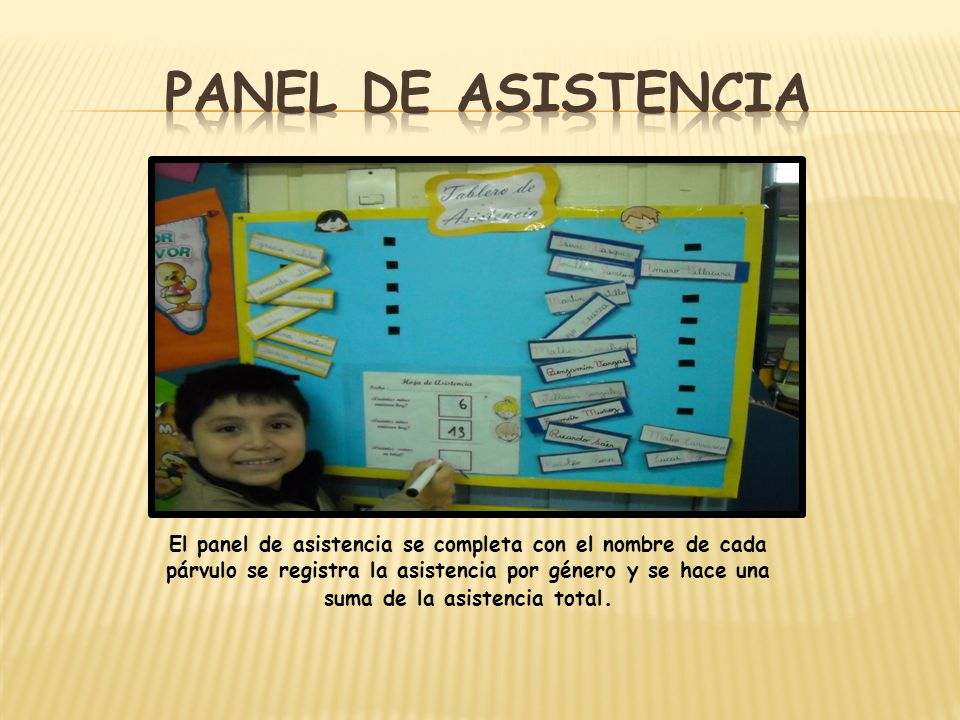 Panel de asistencia