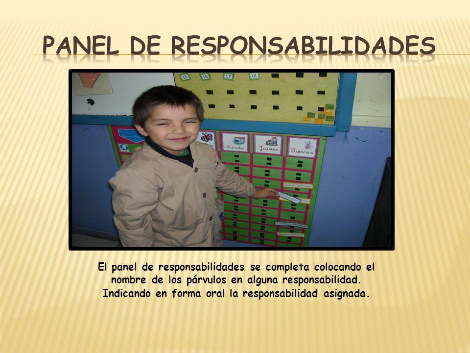 Panel de responsabilidades