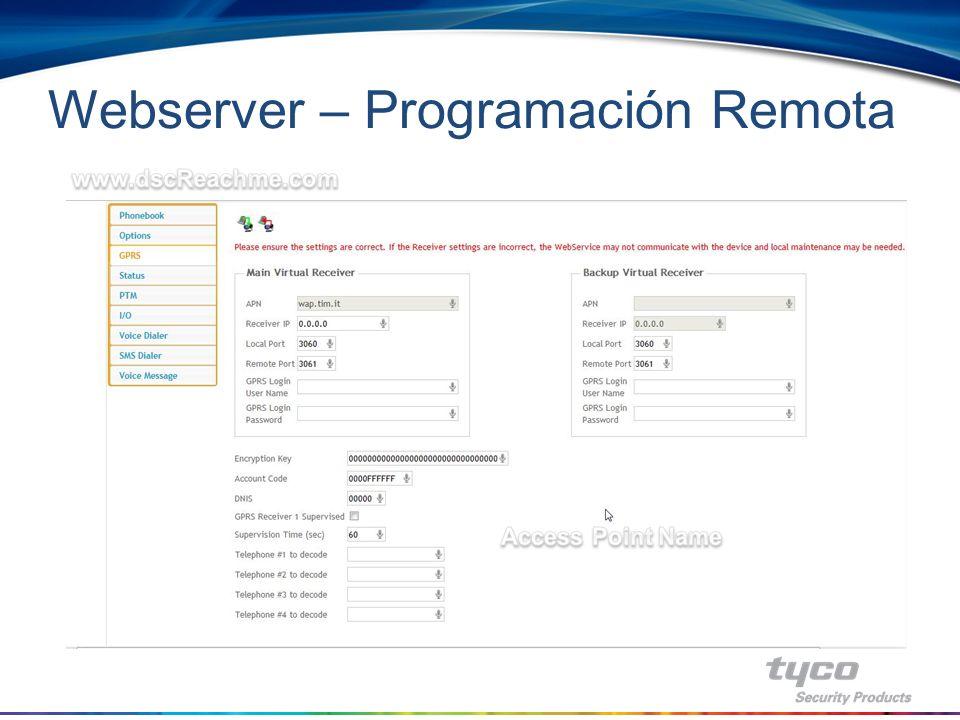 Webserver – Programación Remota