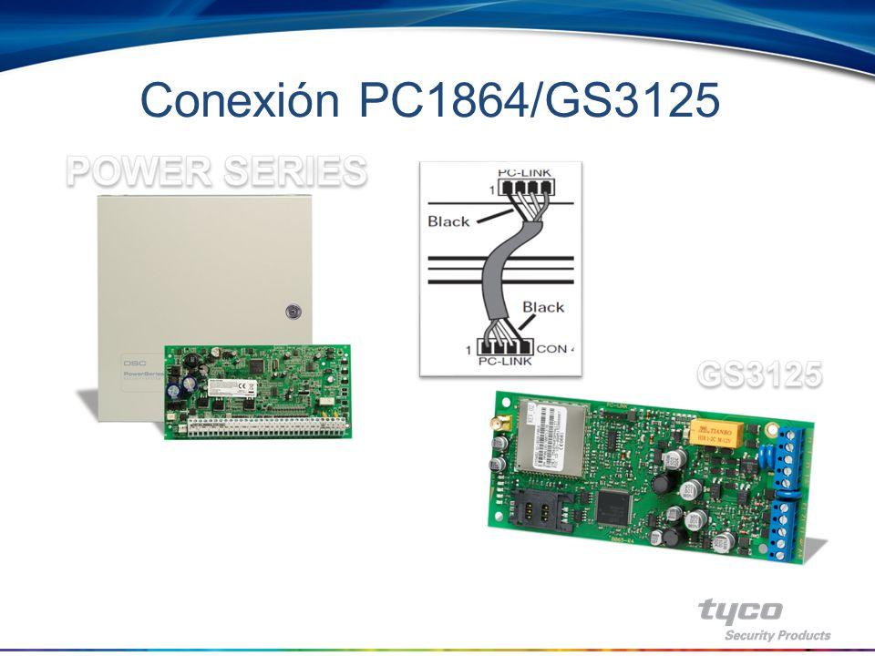 Conexión PC1864/GS3125 POWER SERIES GS3125