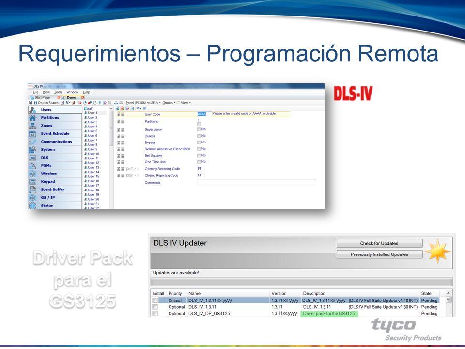 Requerimientos – Programación Remota