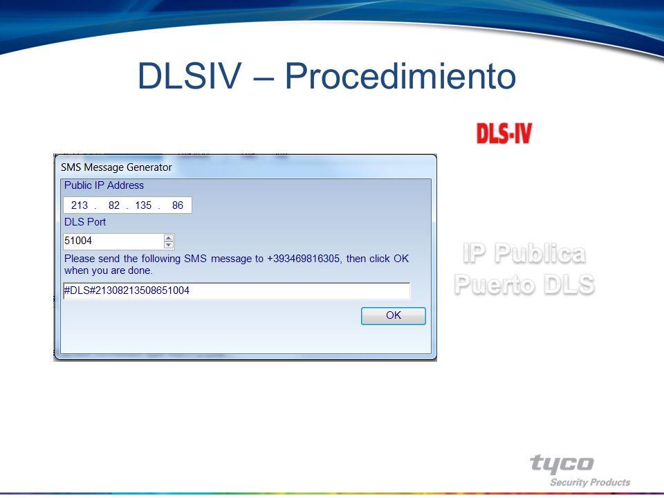 DLSIV – Procedimiento IP Publica Puerto DLS