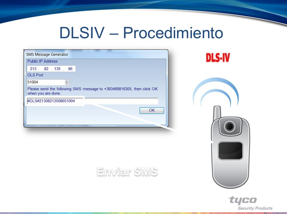 DLSIV – Procedimiento Enviar SMS