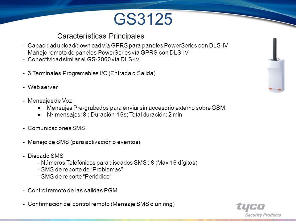 GS3125 Características Principales