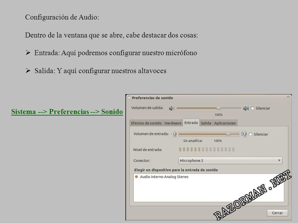 Configuración de Audio: