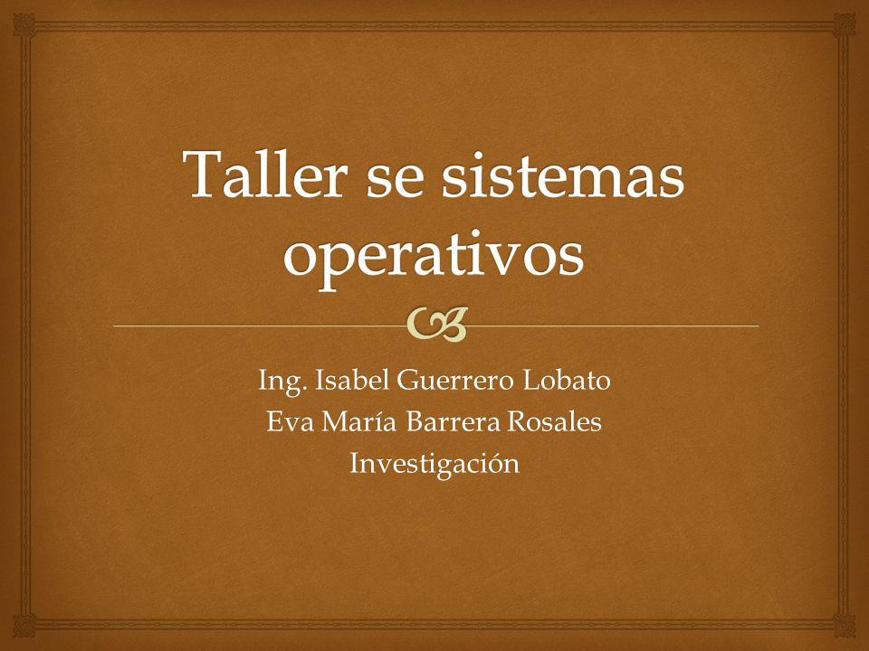 Taller se sistemas operativos