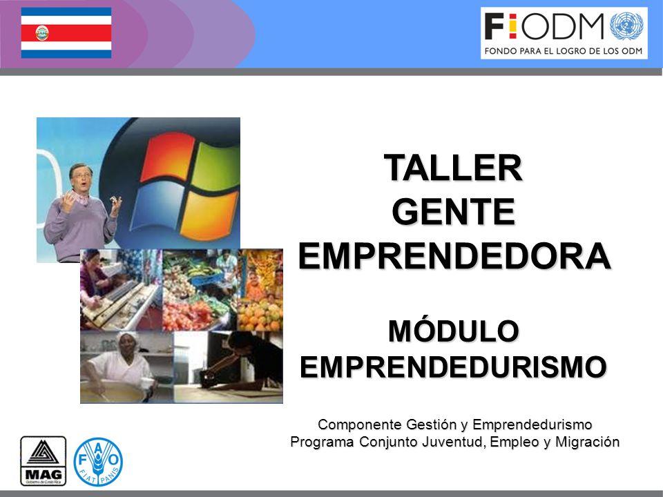 TALLER GENTE EMPRENDEDORA