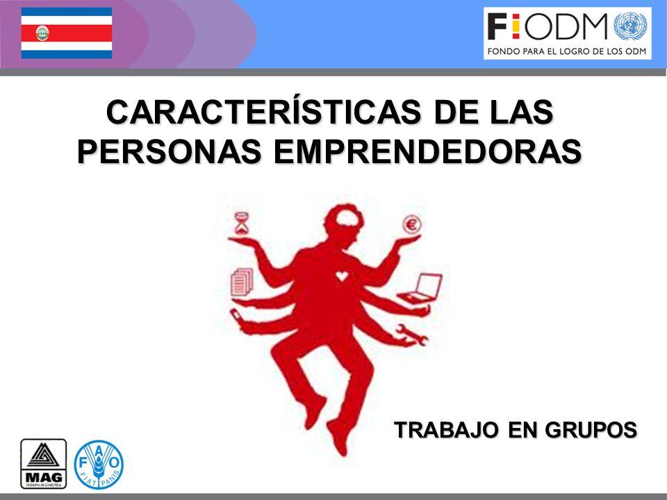 CARACTERÍSTICAS DE LAS PERSONAS EMPRENDEDORAS