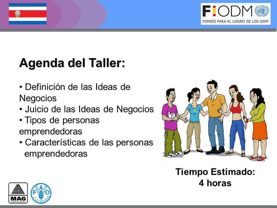 Agenda del Taller: Definición de las Ideas de Negocios