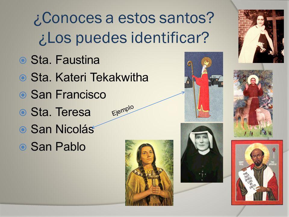 ¿Conoces a estos santos ¿Los puedes identificar