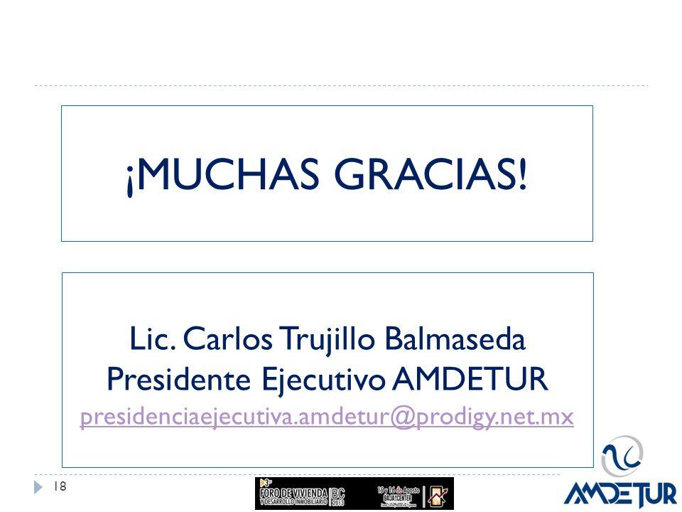 ¡MUCHAS GRACIAS! Lic. Carlos Trujillo Balmaseda