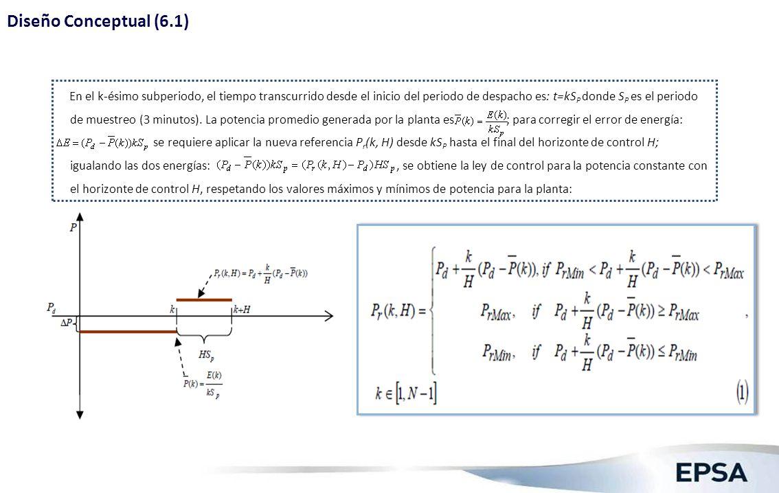 Diseño Conceptual (6.2) Corrección real de energía en la planta