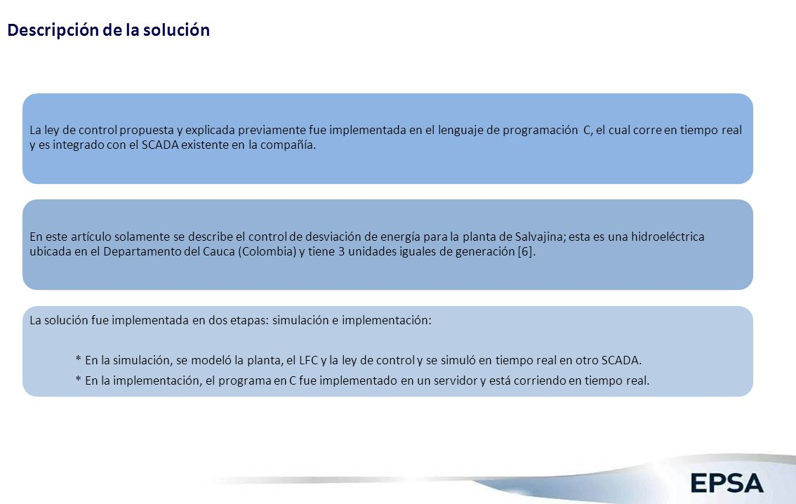 Descripción de la solución (1)