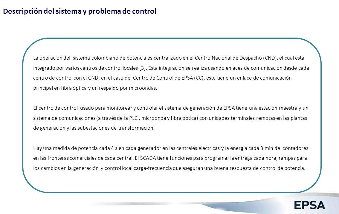 Descripción del sistema y problema de control (2)