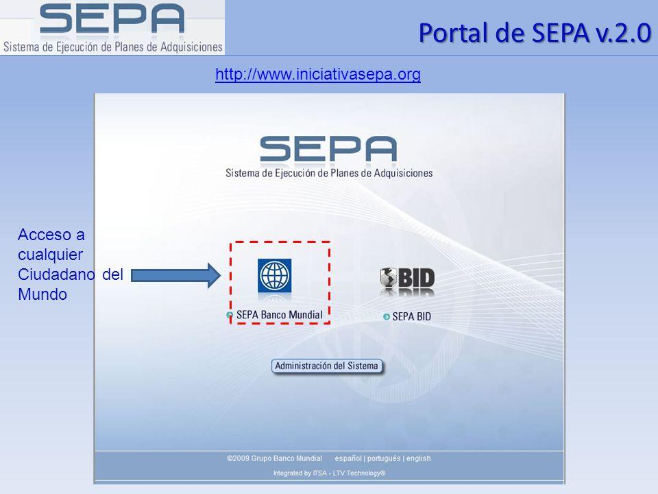 Portal de SEPA v.2.0 http://www.iniciativasepa.org