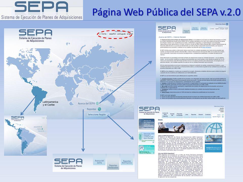 Página Web Pública del SEPA v.2.0