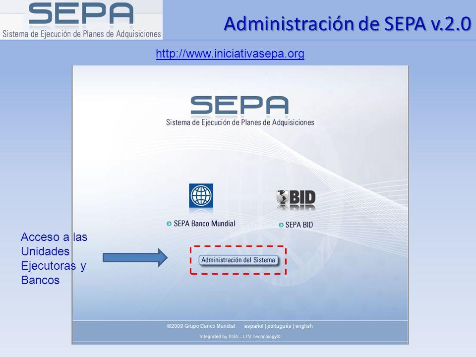 Administración de SEPA v.2.0