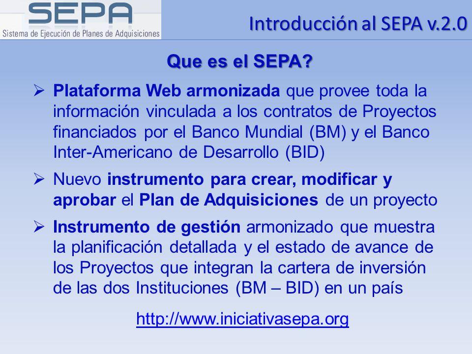 Introducción al SEPA v.2.0 Que es el SEPA