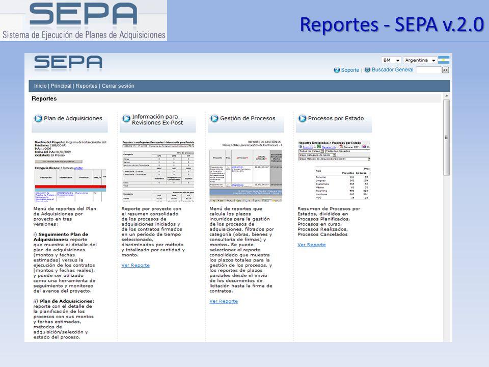 Reportes - SEPA v.2.0