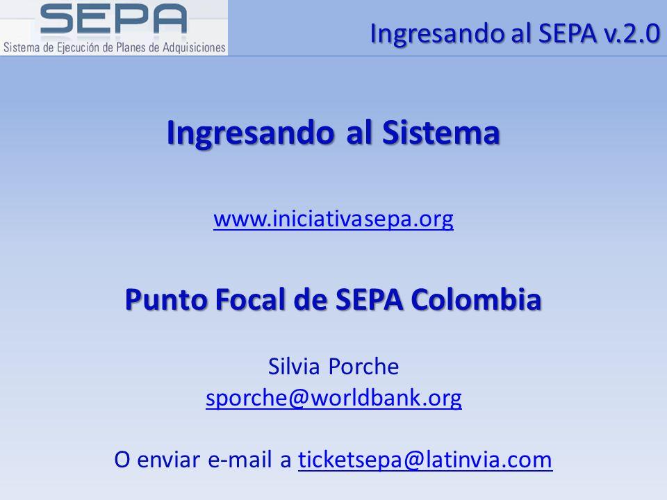 Punto Focal de SEPA Colombia