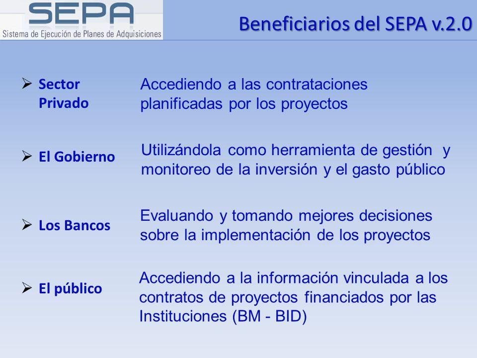 Beneficiarios del SEPA v.2.0