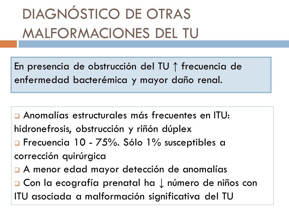 DIAGNÓSTICO DE OTRAS MALFORMACIONES DEL TU