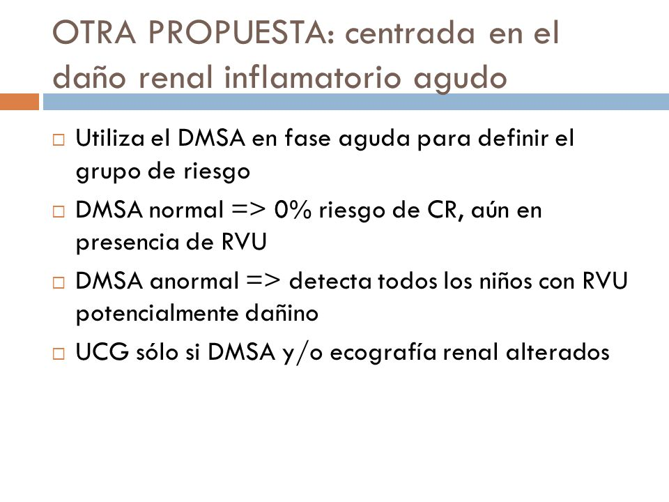 OTRA PROPUESTA: centrada en el daño renal inflamatorio agudo