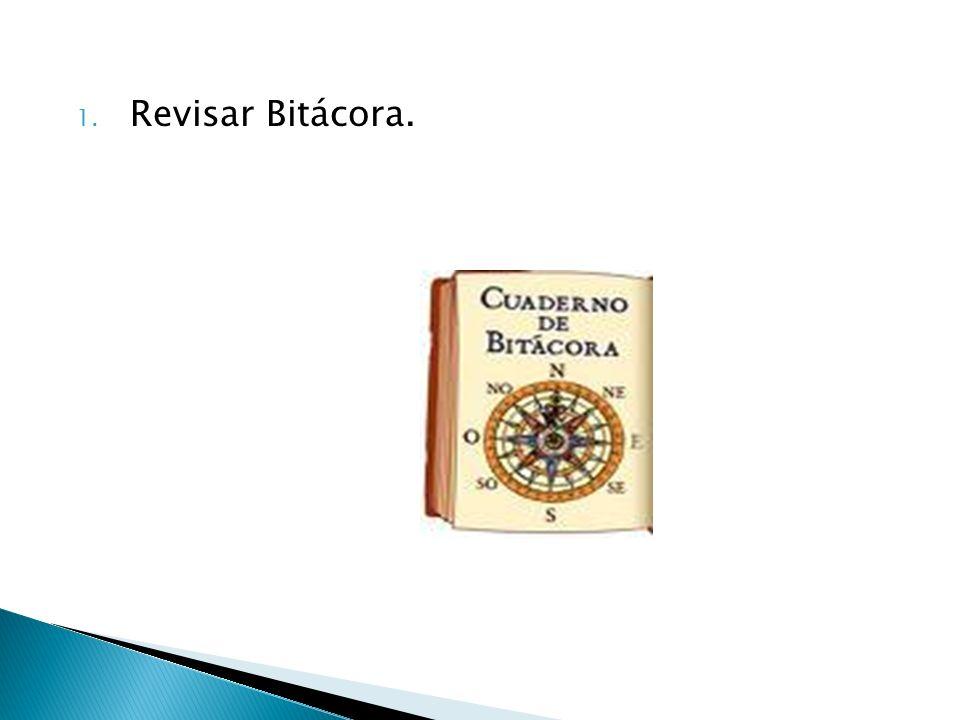 Revisar Bitácora.