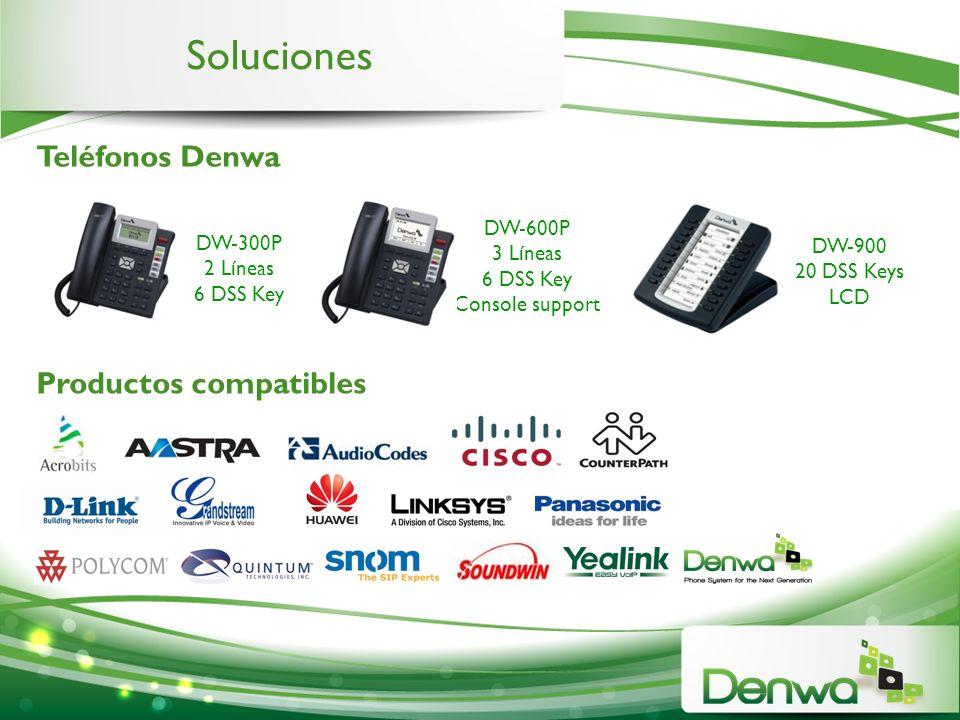 Soluciones Teléfonos Denwa Productos compatibles DW-600P DW-300P