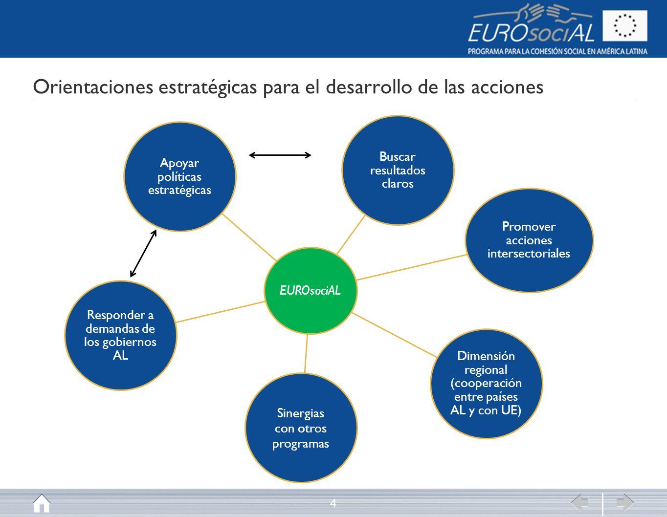 Orientaciones estratégicas para el desarrollo de las acciones