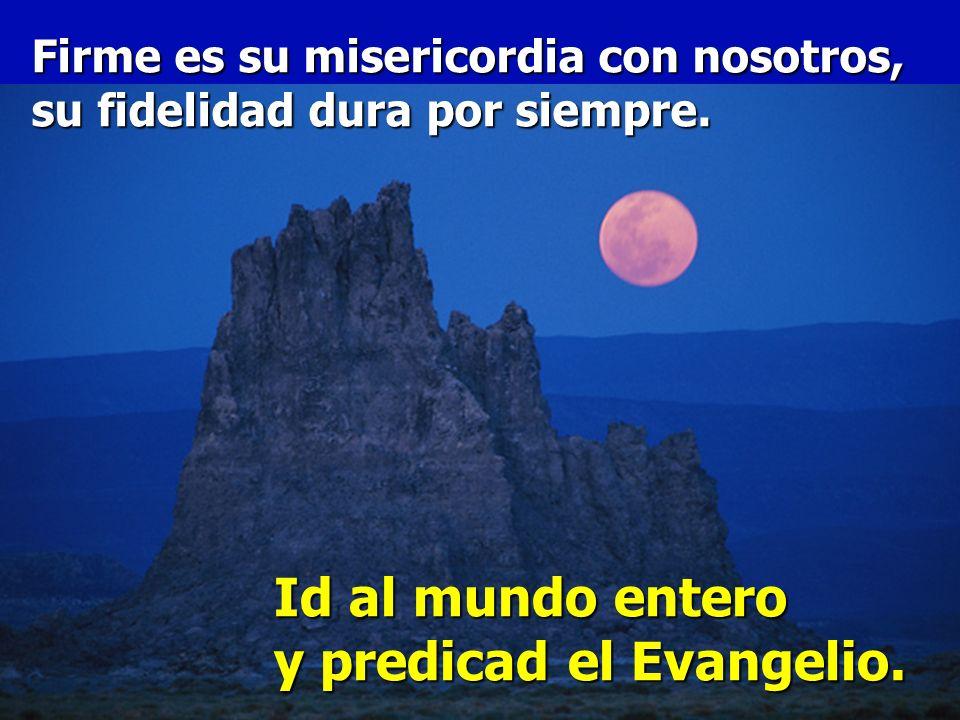 Id al mundo entero y predicad el Evangelio.