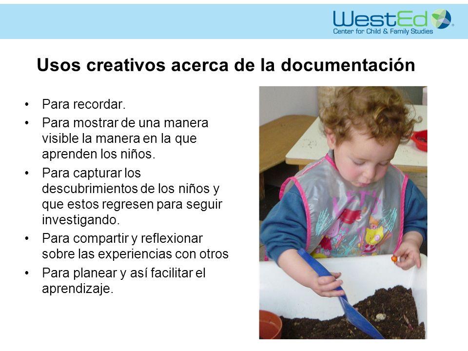 Usos creativos acerca de la documentación
