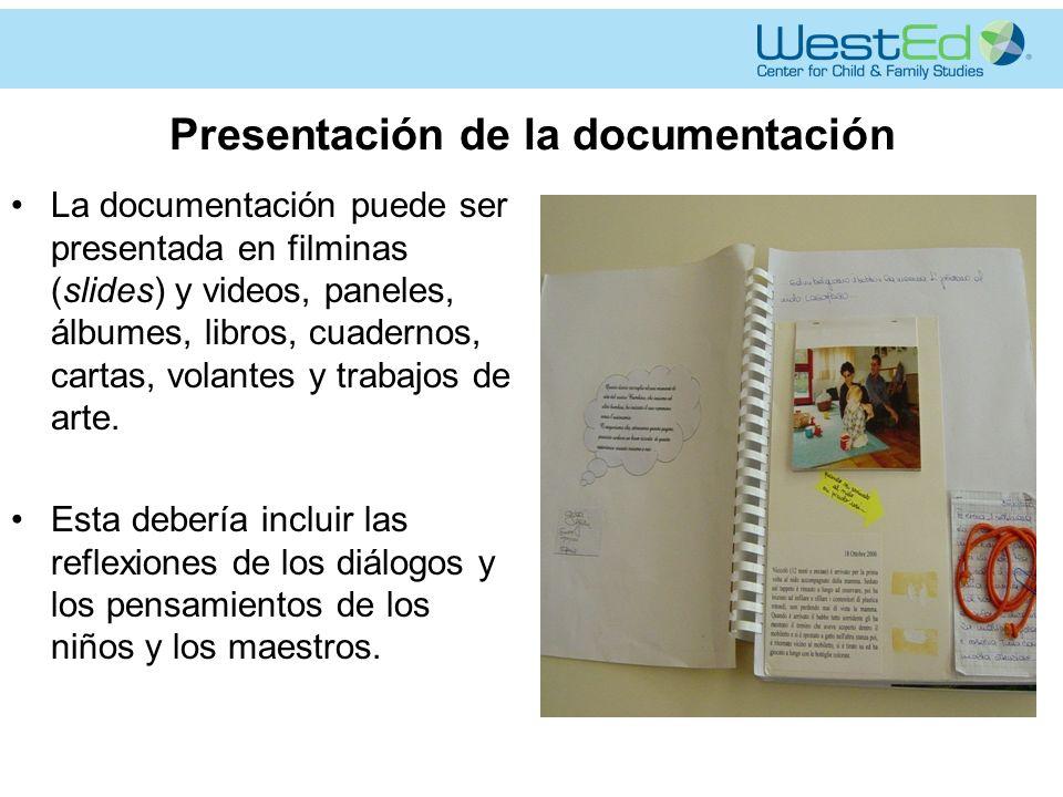 Presentación de la documentación