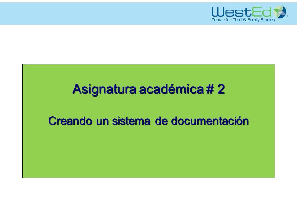 Asignatura académica # 2