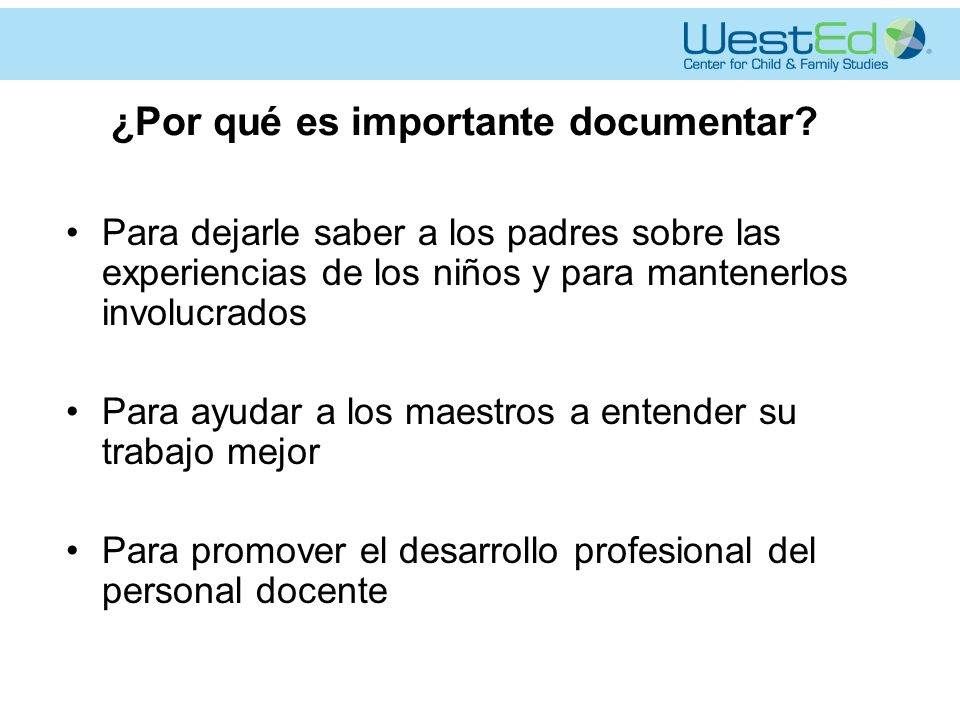 ¿Por qué es importante documentar