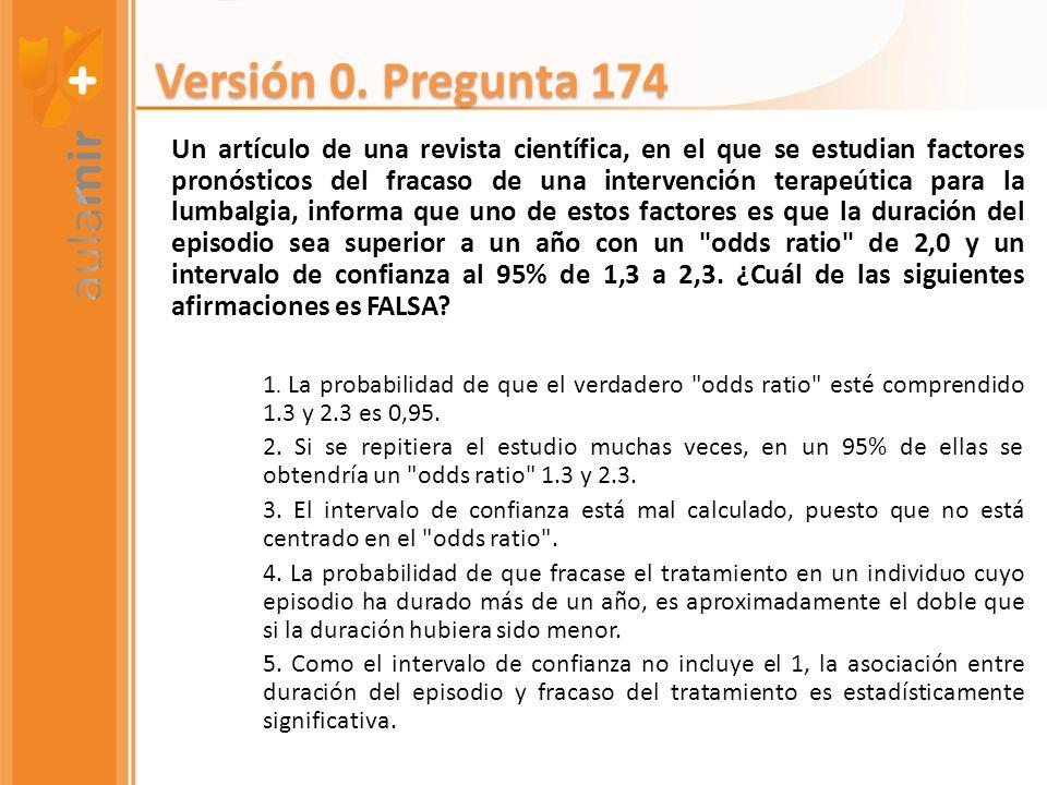 Versión 0. Pregunta 174