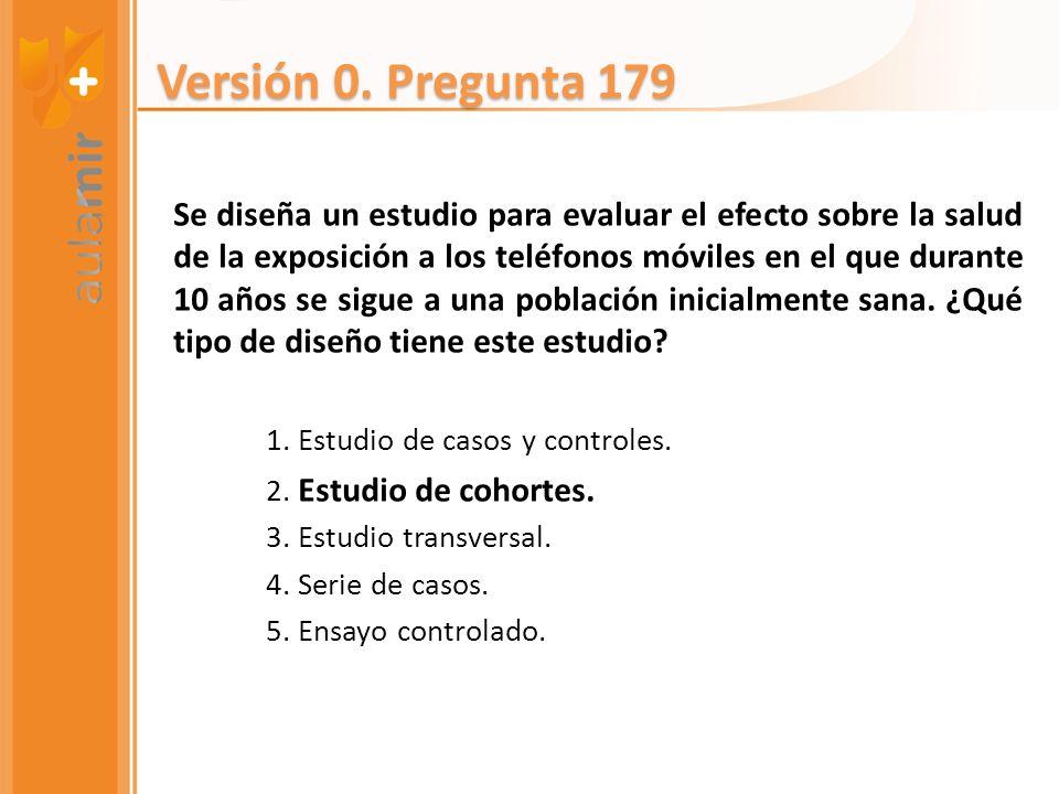 Versión 0. Pregunta 179
