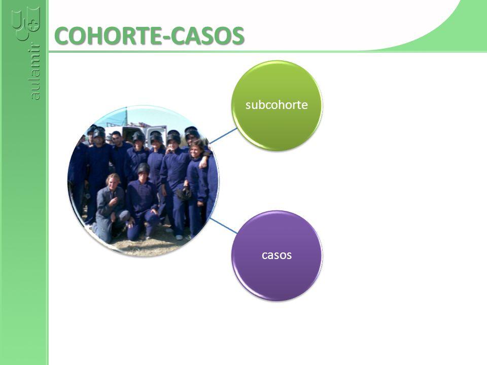 COHORTE-CASOS subcohorte casos