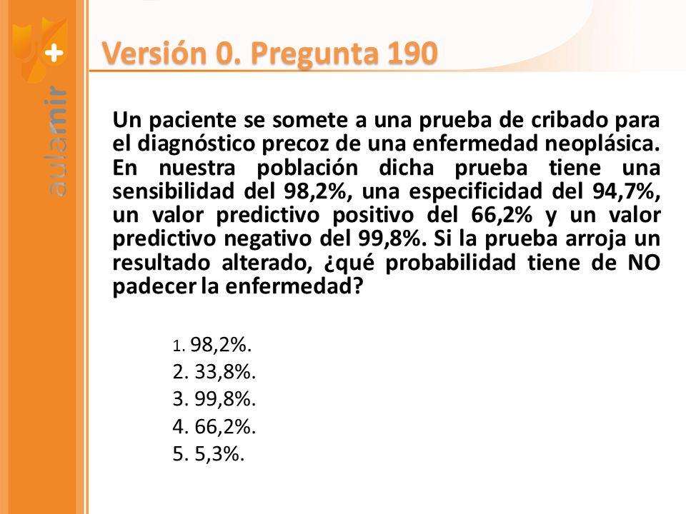 Versión 0. Pregunta 190