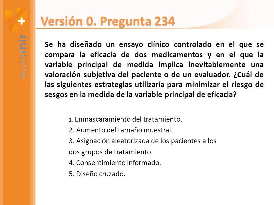 Versión 0. Pregunta 234