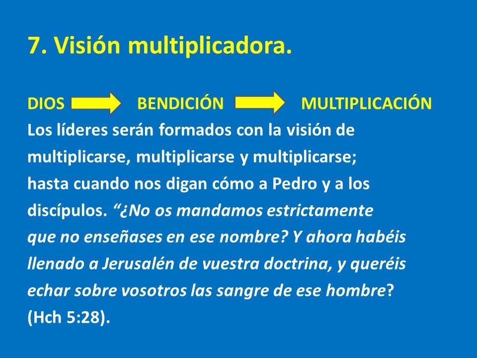 7. Visión multiplicadora.