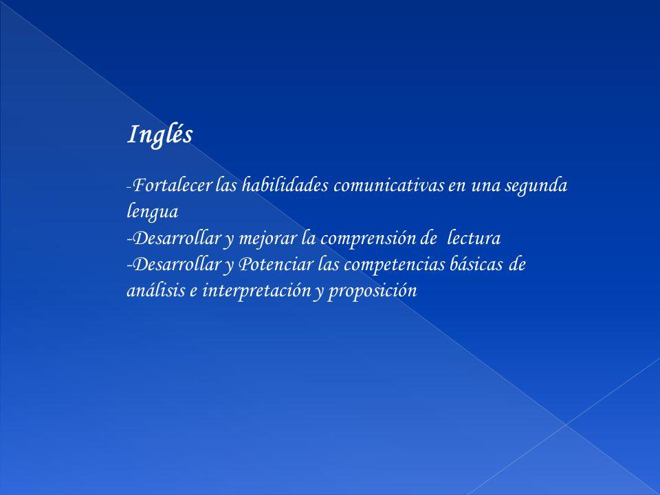 Inglés -Desarrollar y mejorar la comprensión de lectura