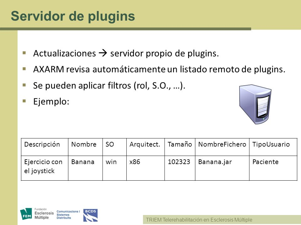 Servidor de plugins Actualizaciones  servidor propio de plugins.