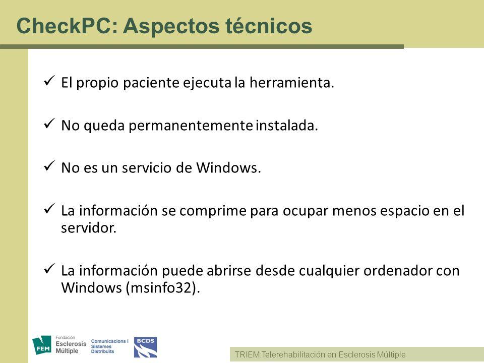 CheckPC: Aspectos técnicos