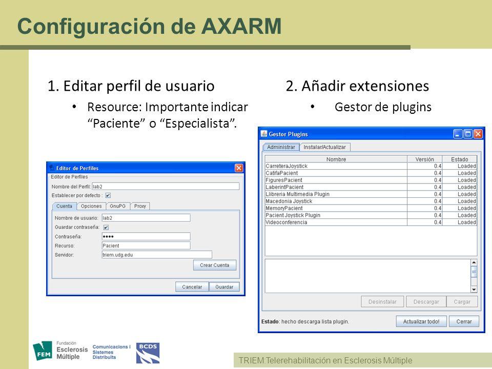 Configuración de AXARM