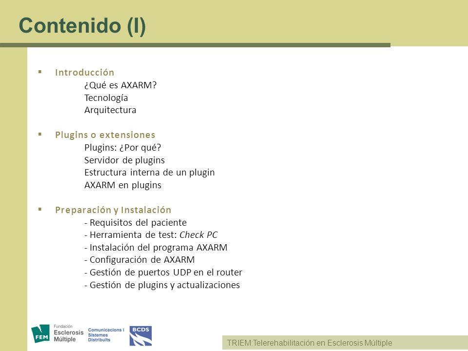 Contenido (I) Introducción ¿Qué es AXARM Tecnología Arquitectura
