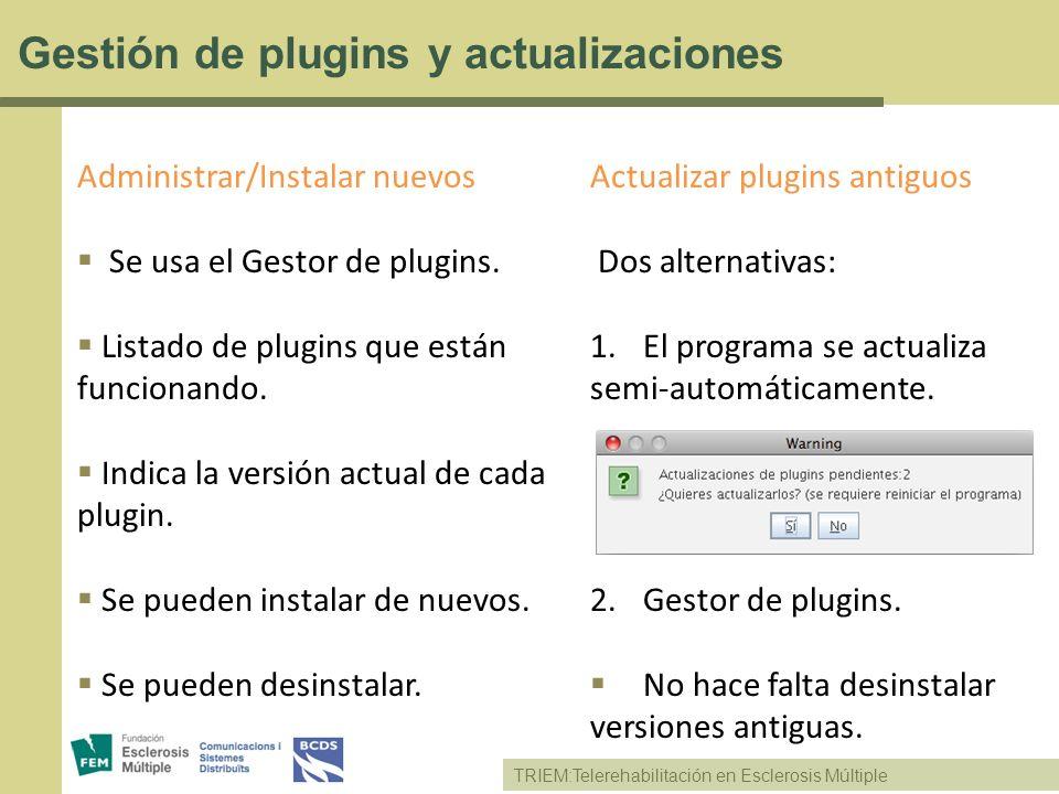 Gestión de plugins y actualizaciones