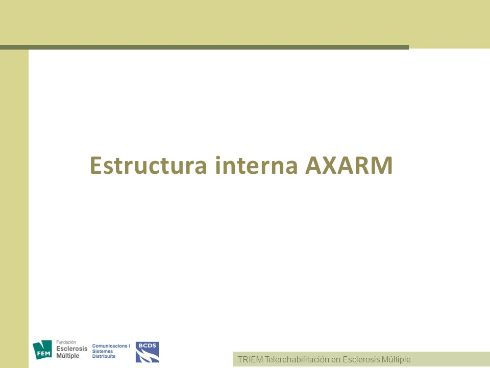 Estructura interna AXARM