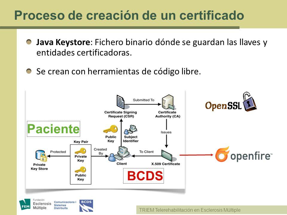 Proceso de creación de un certificado