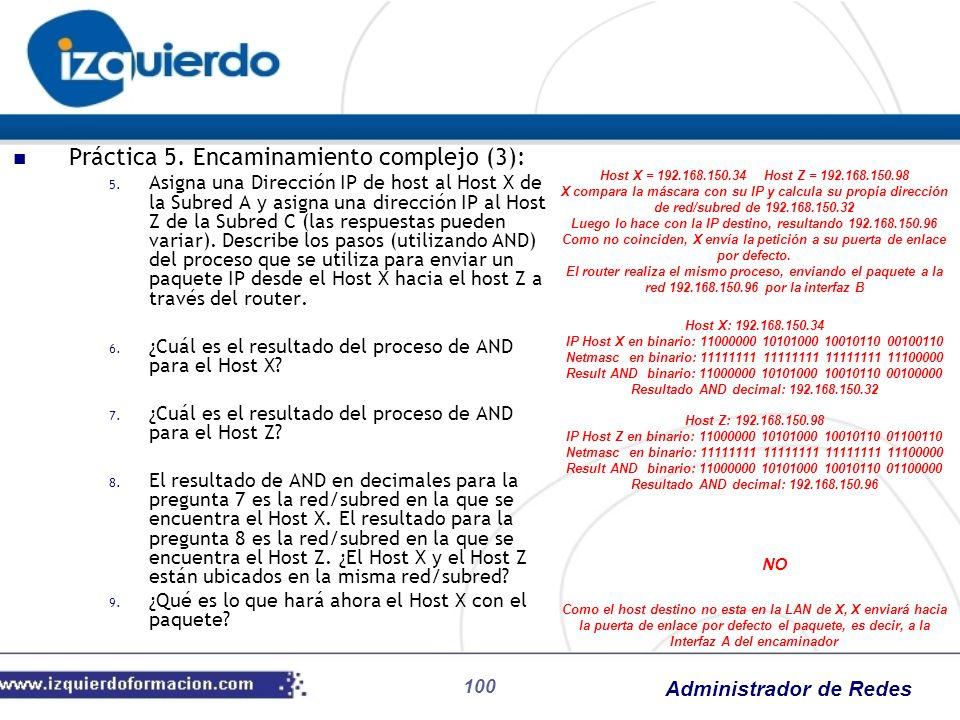 Práctica 5. Encaminamiento complejo (3):